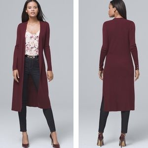 WHBM Ribbed Duster Cardigan